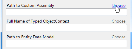 Entity Framework Choose Assembly
