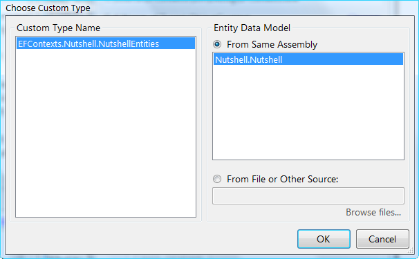 Entity Framework Choose EDM